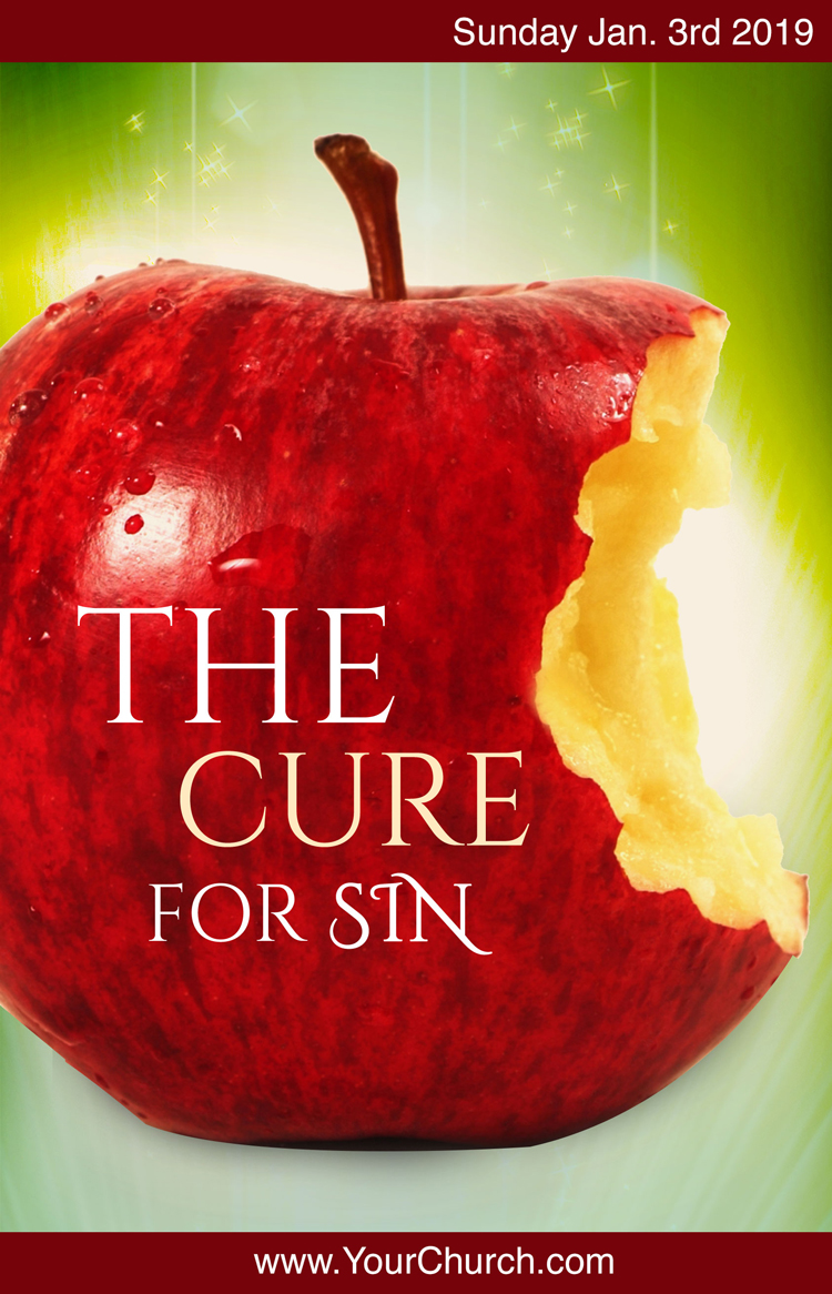 Church bulletin template - the cure for sin