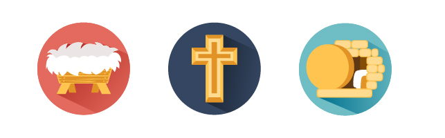 3 examples of free christian icons