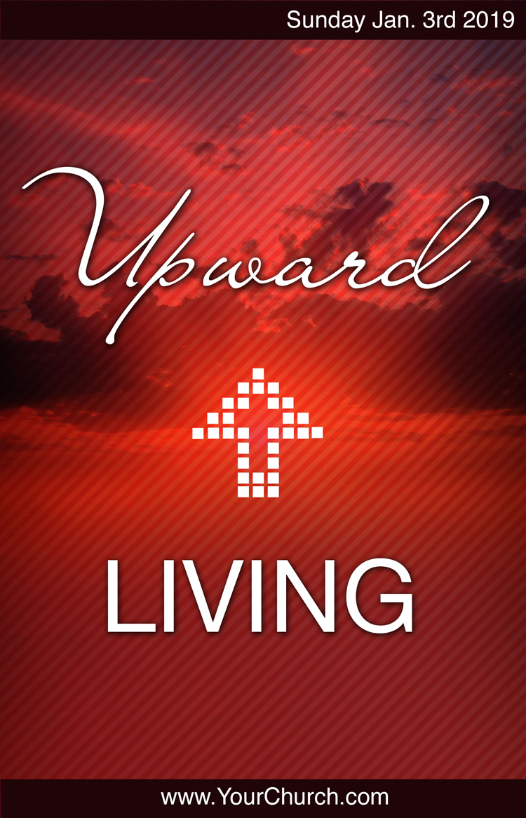 Church bulletin template - Upward living