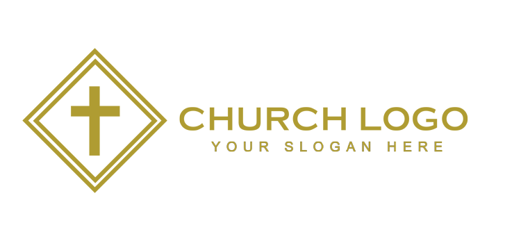 Elegant church logo