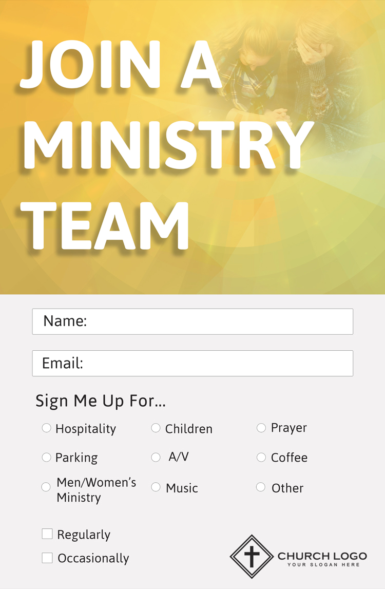 Get Involved Church Connection Church Card Template