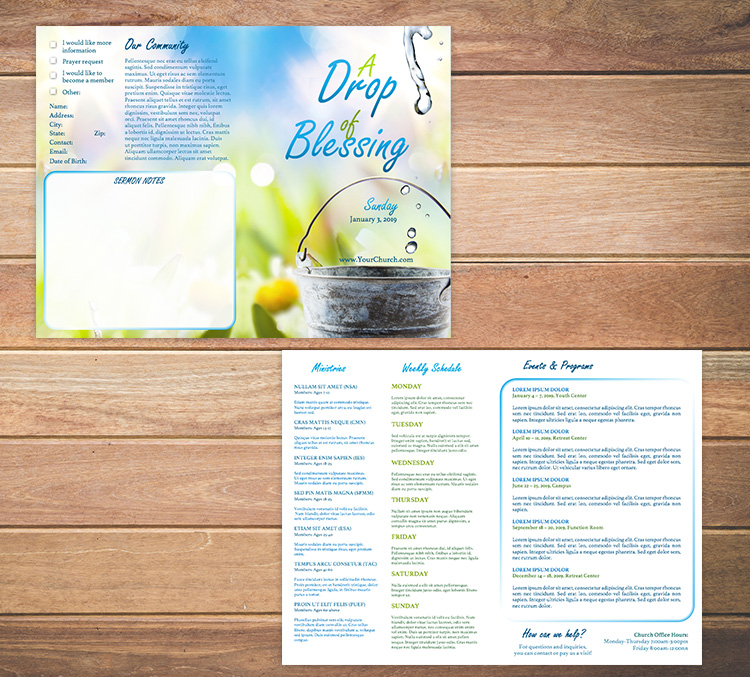 FREE Church Bulletin Templates - 8 Professionally-Designed Bulletins