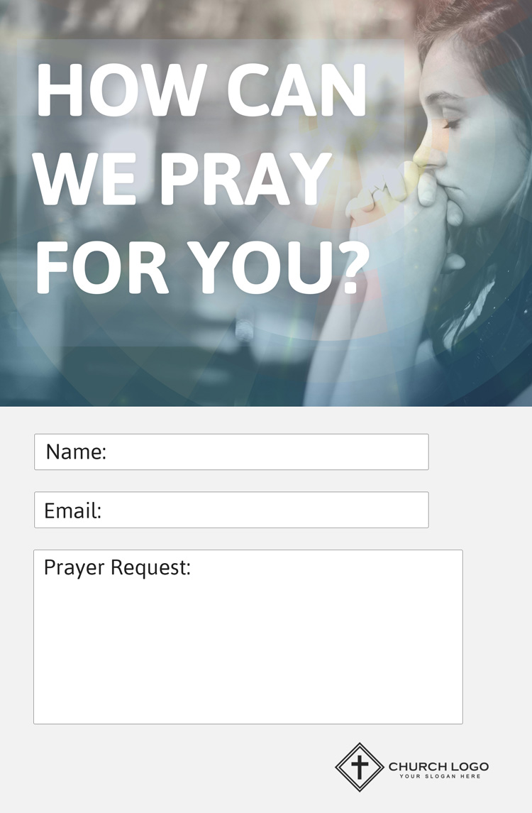Free Prayer Request Church Connection Card
