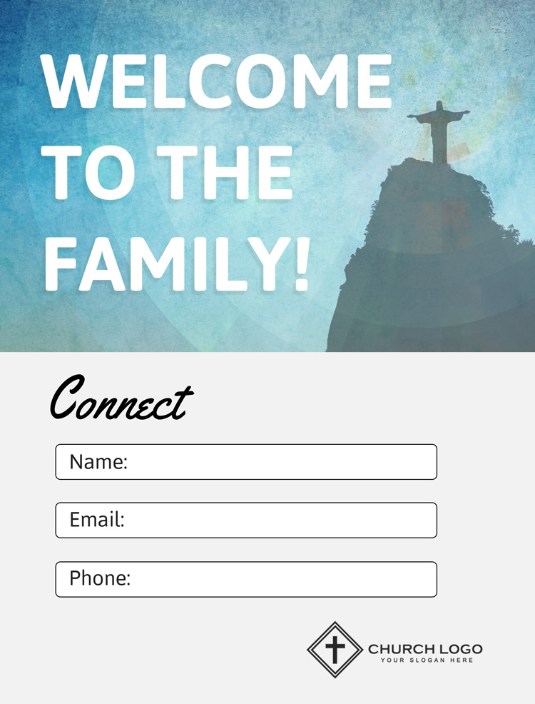 Free Welcome Church Connection Card Template