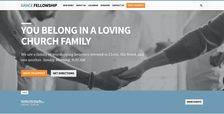 Picture of welcoming church website