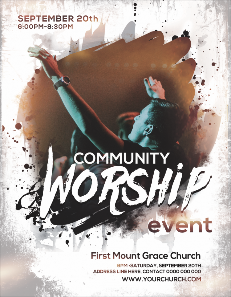 Free Church Flyer - Community Worship