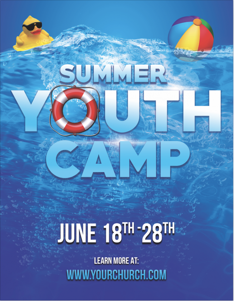 Free Church Flyer - Summer Work Camp