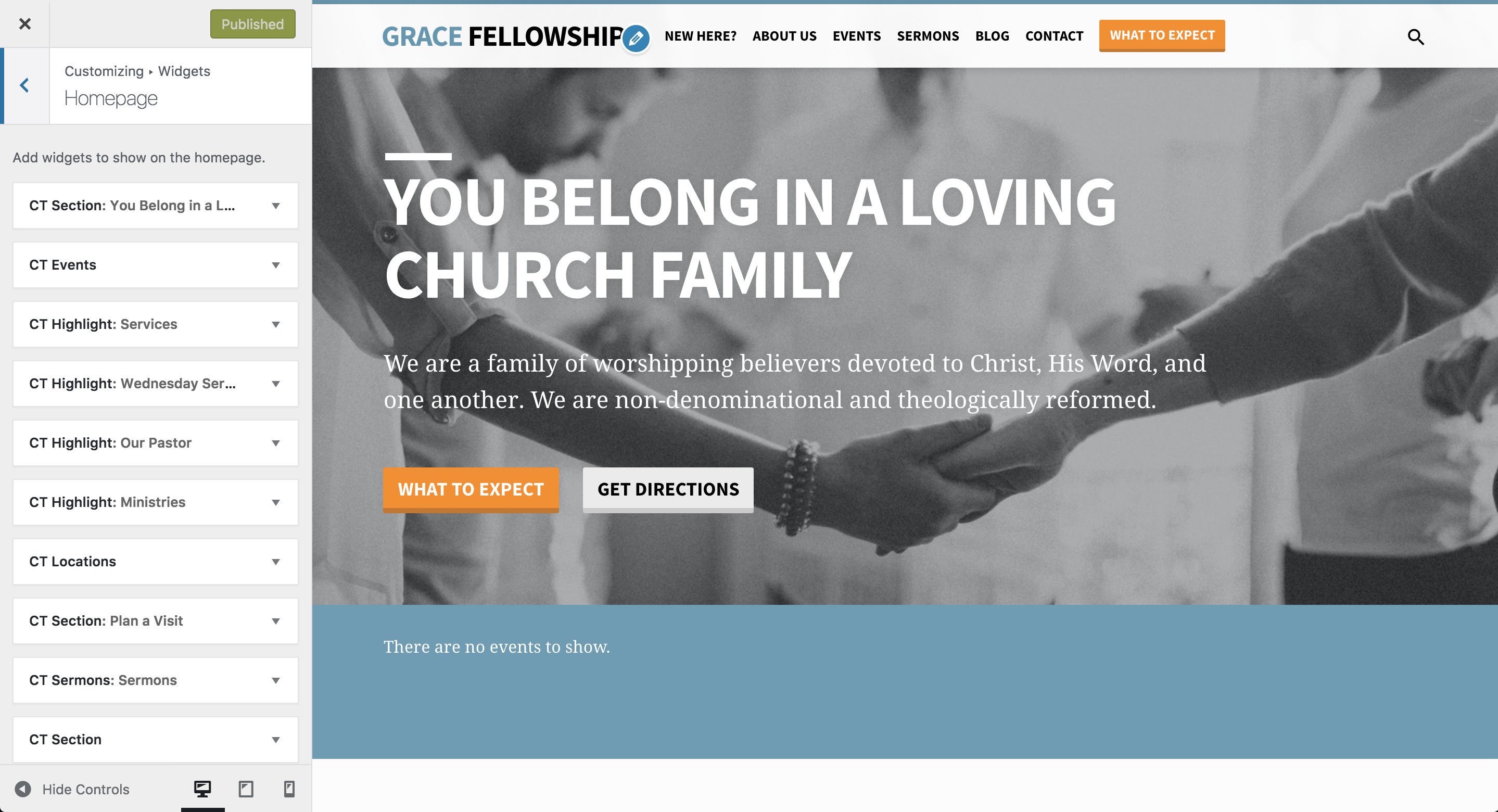 Using the Homepage Builder - Saved Church WordPress Theme by Churchthemes.com