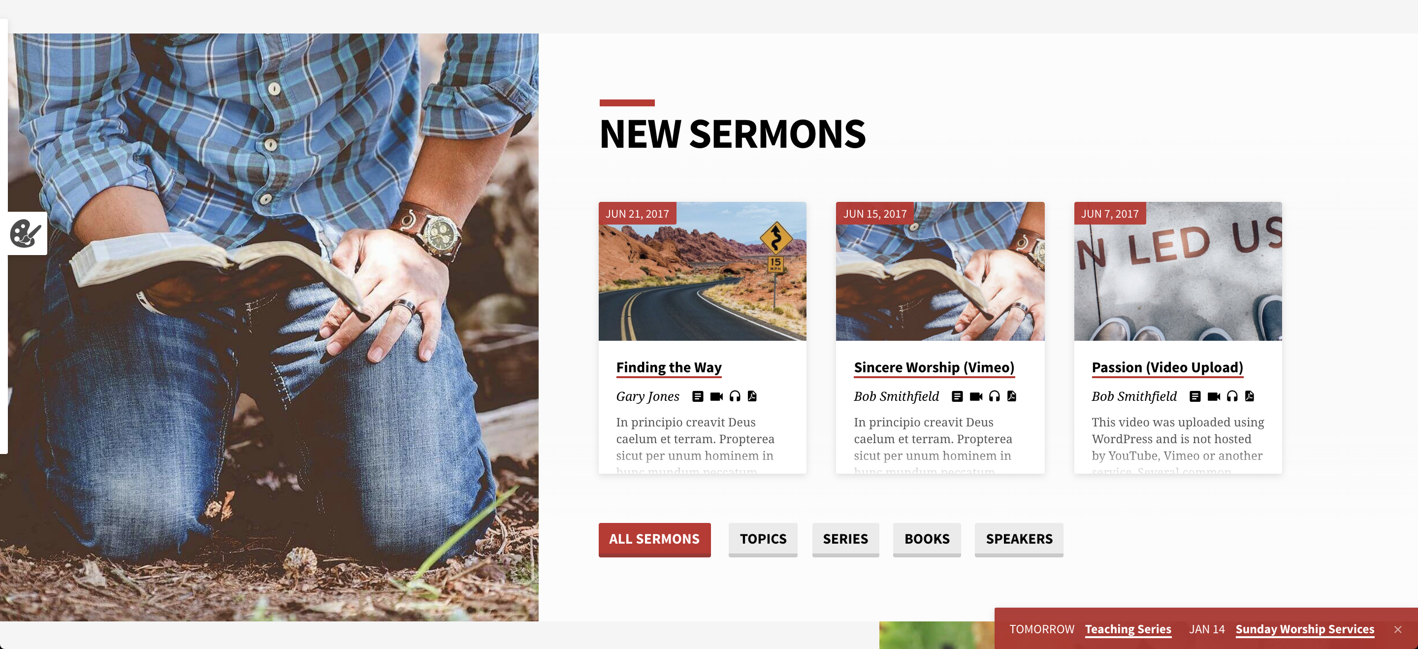 Screenshot of Saved Church WordPress theme