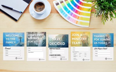 Modern Church Connection Cards – 5 FREE Templates