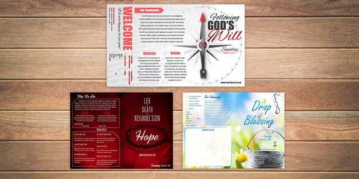 photo relating to Free Printable Flyers for Church named Cost-free Church Bulletin Templates - Personalize within just Microsoft Phrase