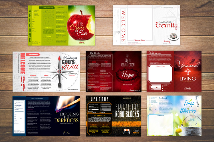 FREE Church Bulletin Templates 8 ProfessionallyDesigned Bulletins
