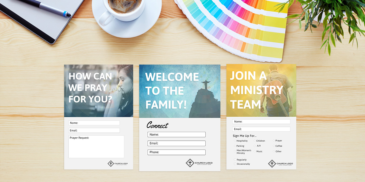 Free Church Connection Cards Beautiful Psd Templates