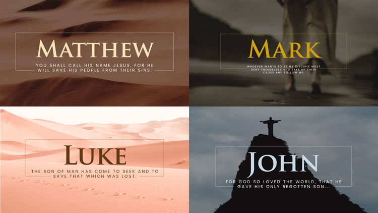Matthew, Mark, Luke, and John Sermon Graphics