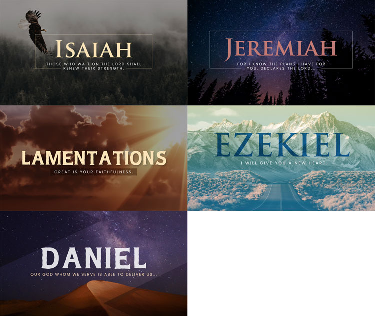 Isaiah, Jeremiah, Lamentations, Ezekiel, and Daniel Sermon Graphics