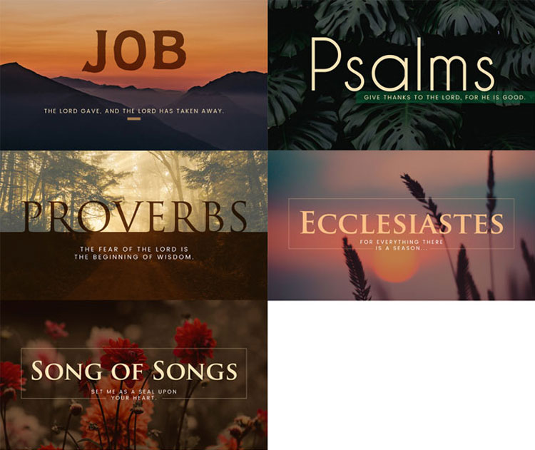 Job, Psalms, Proverbs, Ecclesiastes, and Song of Songs Sermon Graphics