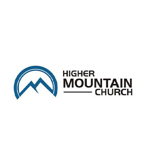 Church logo with mountains and hills