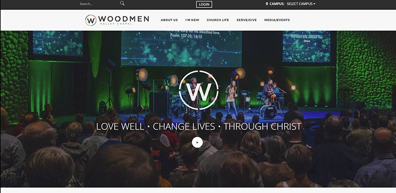 best modern church website designs